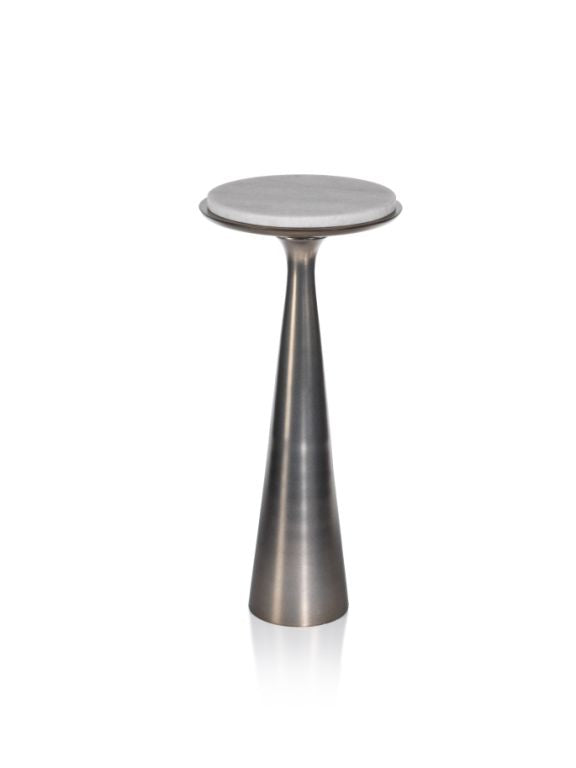 Funnel Drink Table w/ Marble Top - CARLYLE AVENUE