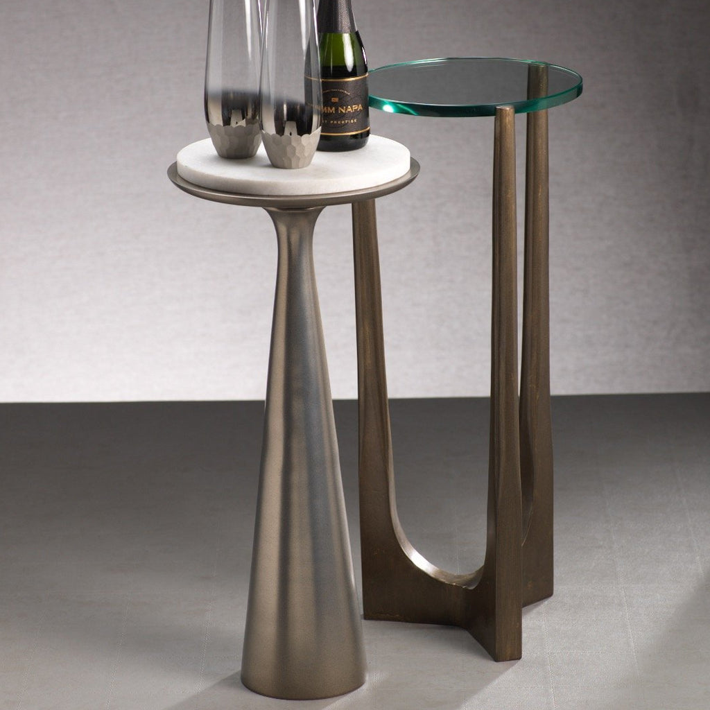 Funnel Drink Table w/ Marble Top