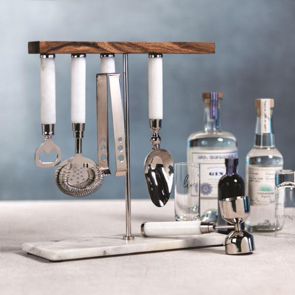 Marbella 5 Piece Bar Tool Set - CARLYLE AVENUE