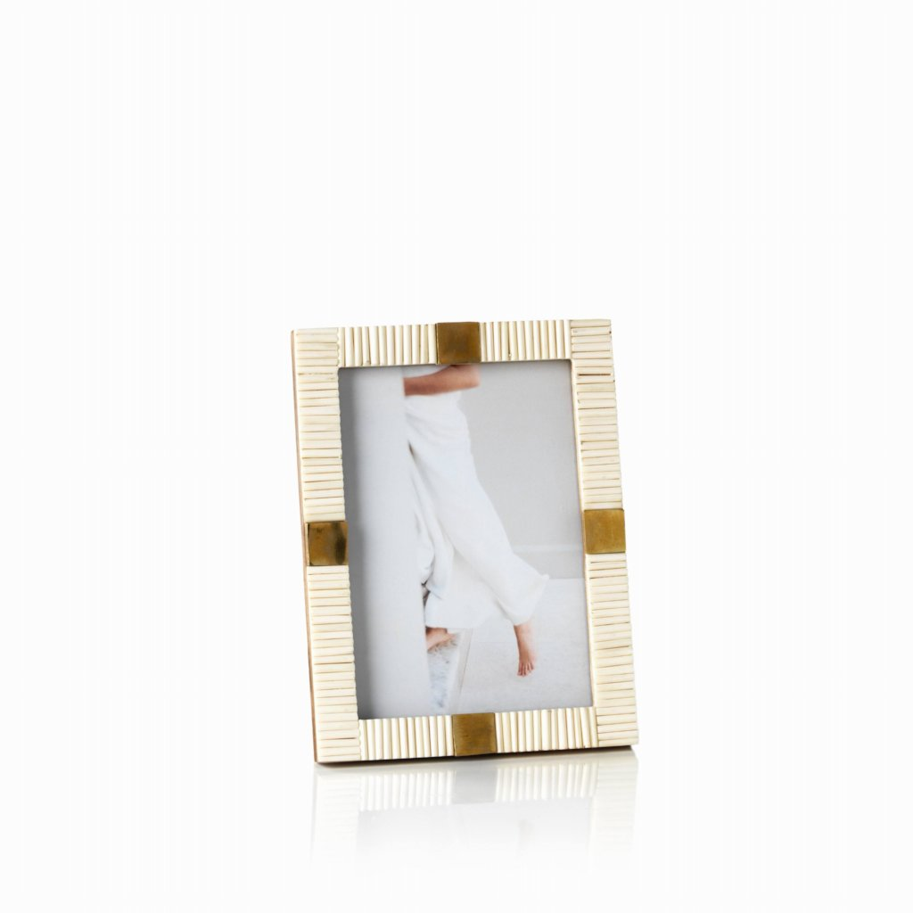 Maha Bone w/ Brass Trim Photo Frame - CARLYLE AVENUE