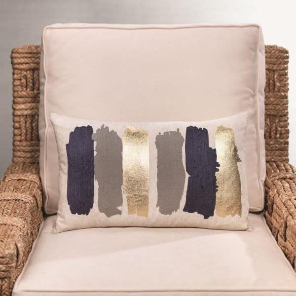 Capucci Cotton Linen Throw Pillow - CARLYLE AVENUE