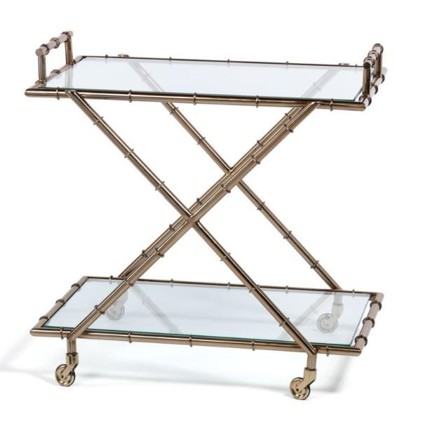 Malay Metal Bamboo Bar Cart - CARLYLE AVENUE