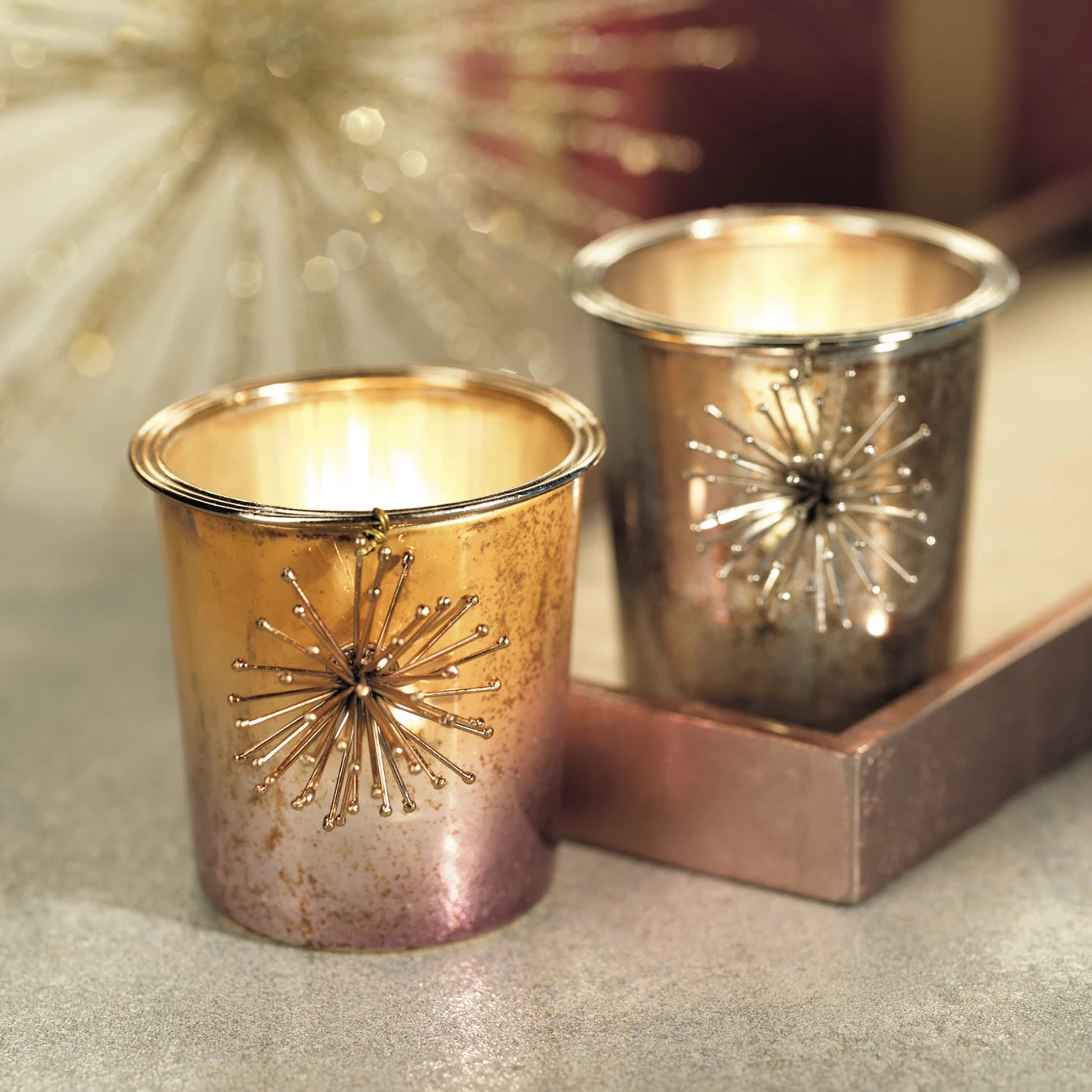 Starburst Tealight Holder - s/6 - CARLYLE AVENUE
