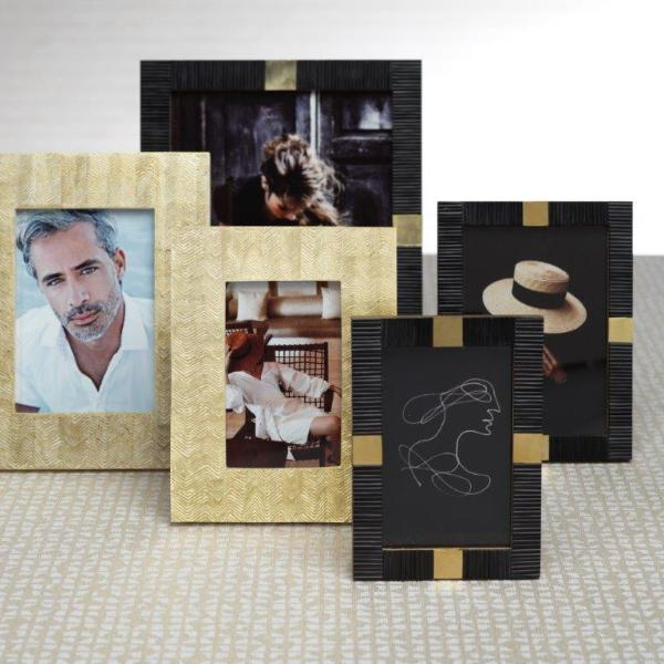 Maha Black Bone w/ Brass Trim Photo Frame - CARLYLE AVENUE