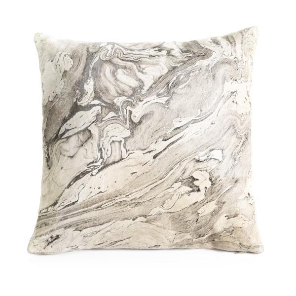 Leather Melange Throw Pillow - CARLYLE AVENUE