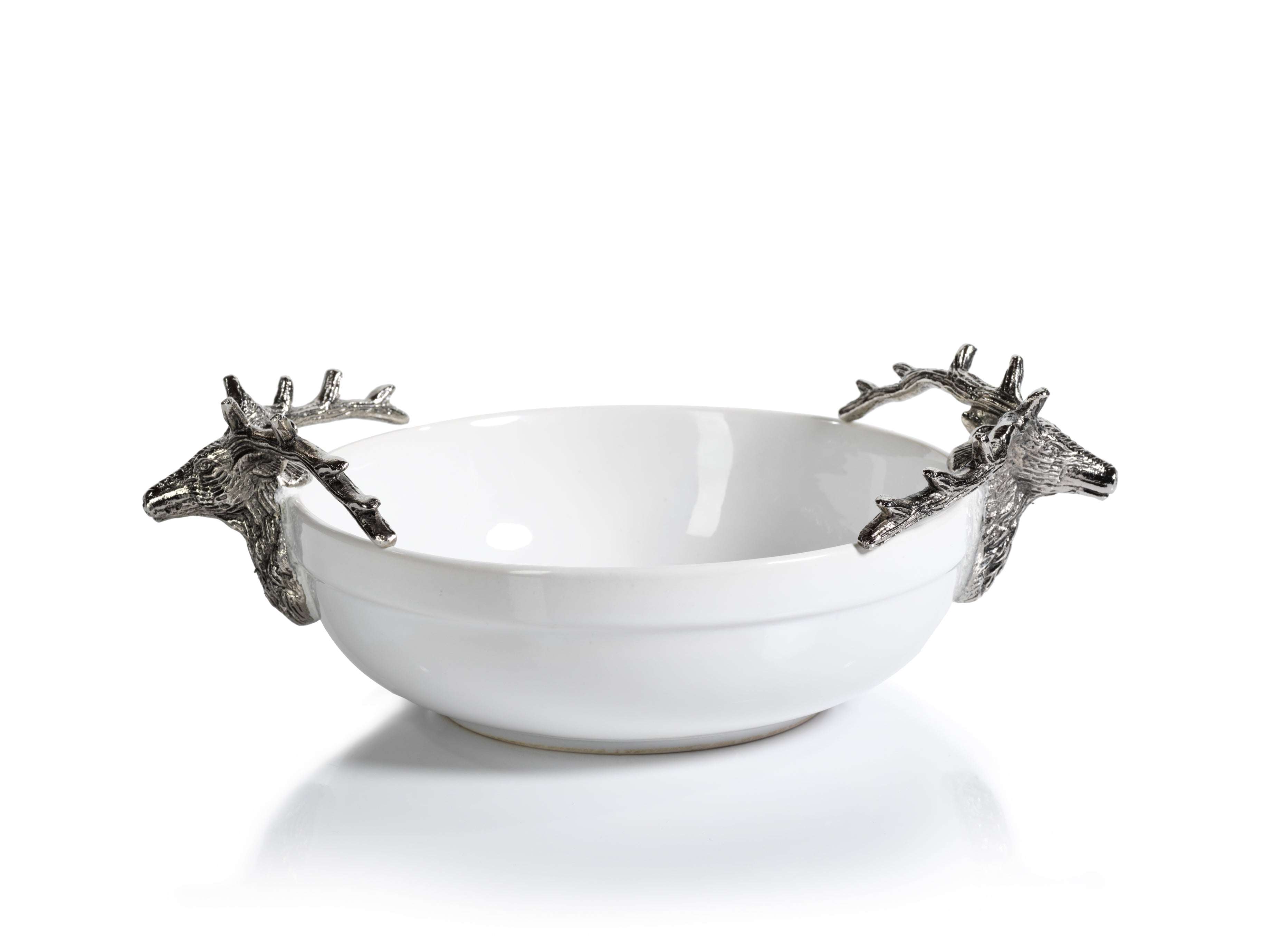 Ceramic and Metal Stag Head Bowl - CARLYLE AVENUE