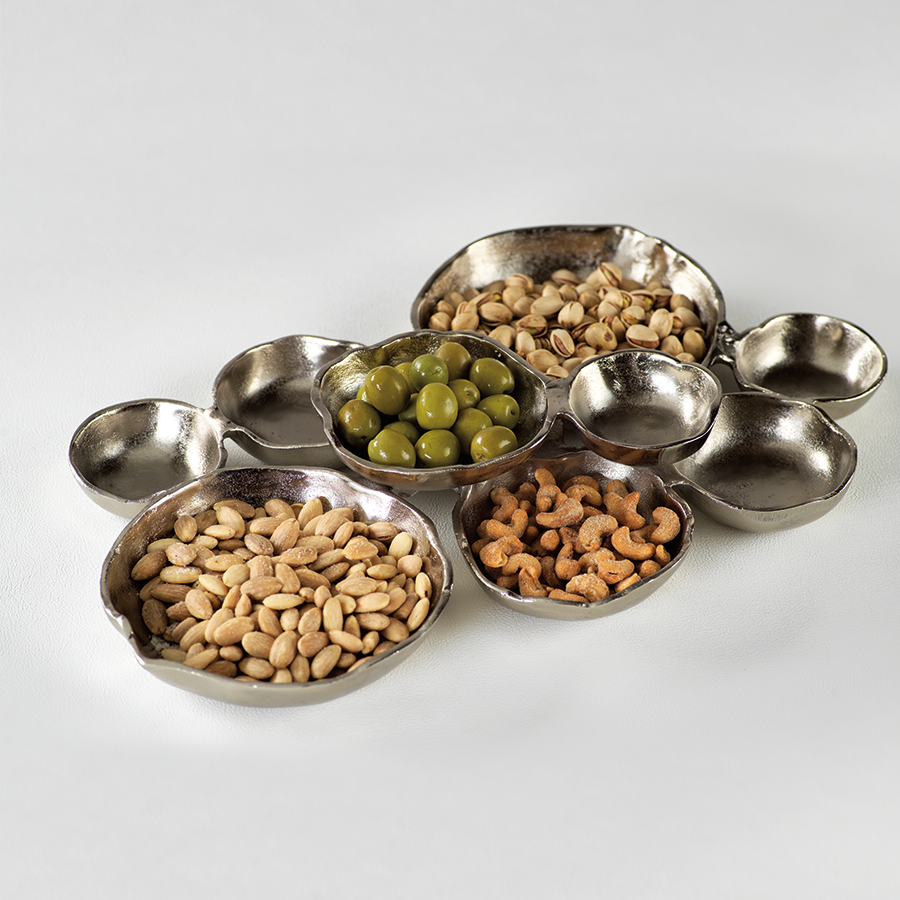 Cluster of Nine Serving Bowls - Nickel
