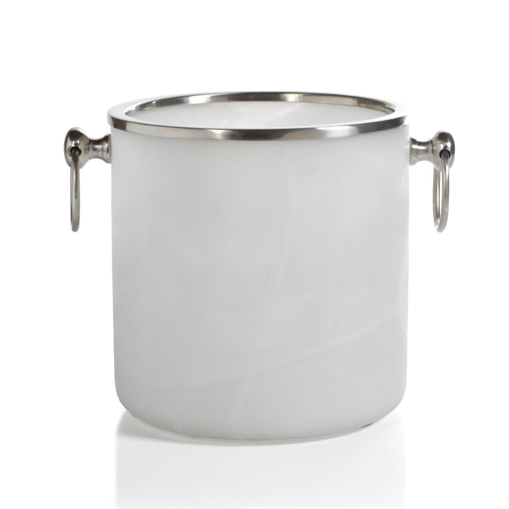 Alabaster Glass Ice Bucket - CARLYLE AVENUE