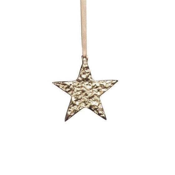 Raw Aluminum Ornament - Gold