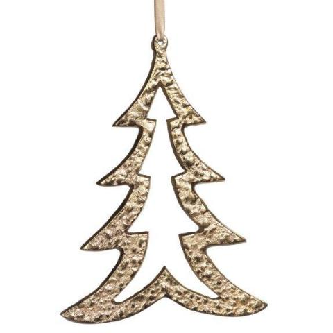 Raw Aluminum Ornament - Gold - CARLYLE AVENUE