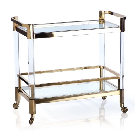 The Langham Bar Cart - Polished Gold - CARLYLE AVENUE