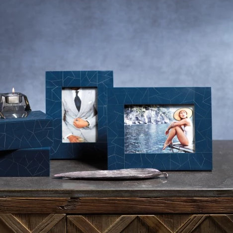Abstract Inlay Photo Frame - CARLYLE AVENUE