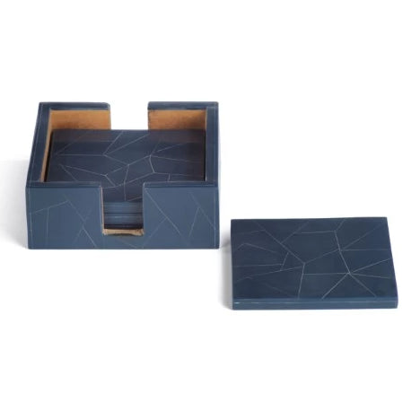Abstract Inlay Set Coaster - CARLYLE AVENUE