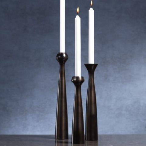 Bogota Bronze Candle Holder - CARLYLE AVENUE