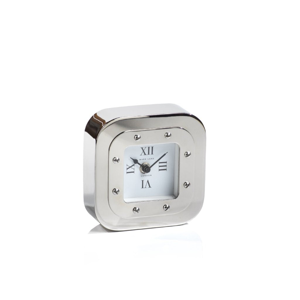 Mark Lane Table Clock - Nickel - CARLYLE AVENUE