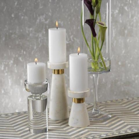 Marmo Marble Pillar Holder - CARLYLE AVENUE