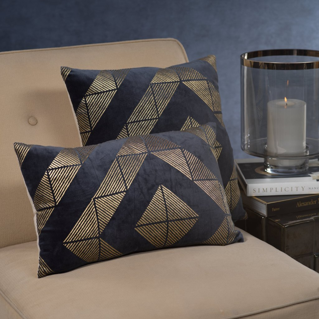 Collins Midnight Blue Throw Pillow - CARLYLE AVENUE