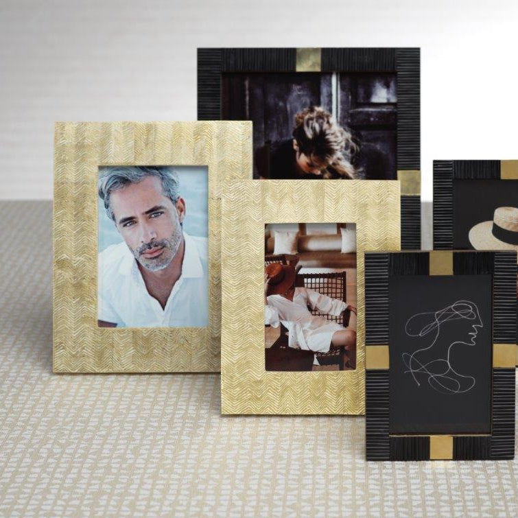 Gold Foil Herringbone Photo Frame - CARLYLE AVENUE