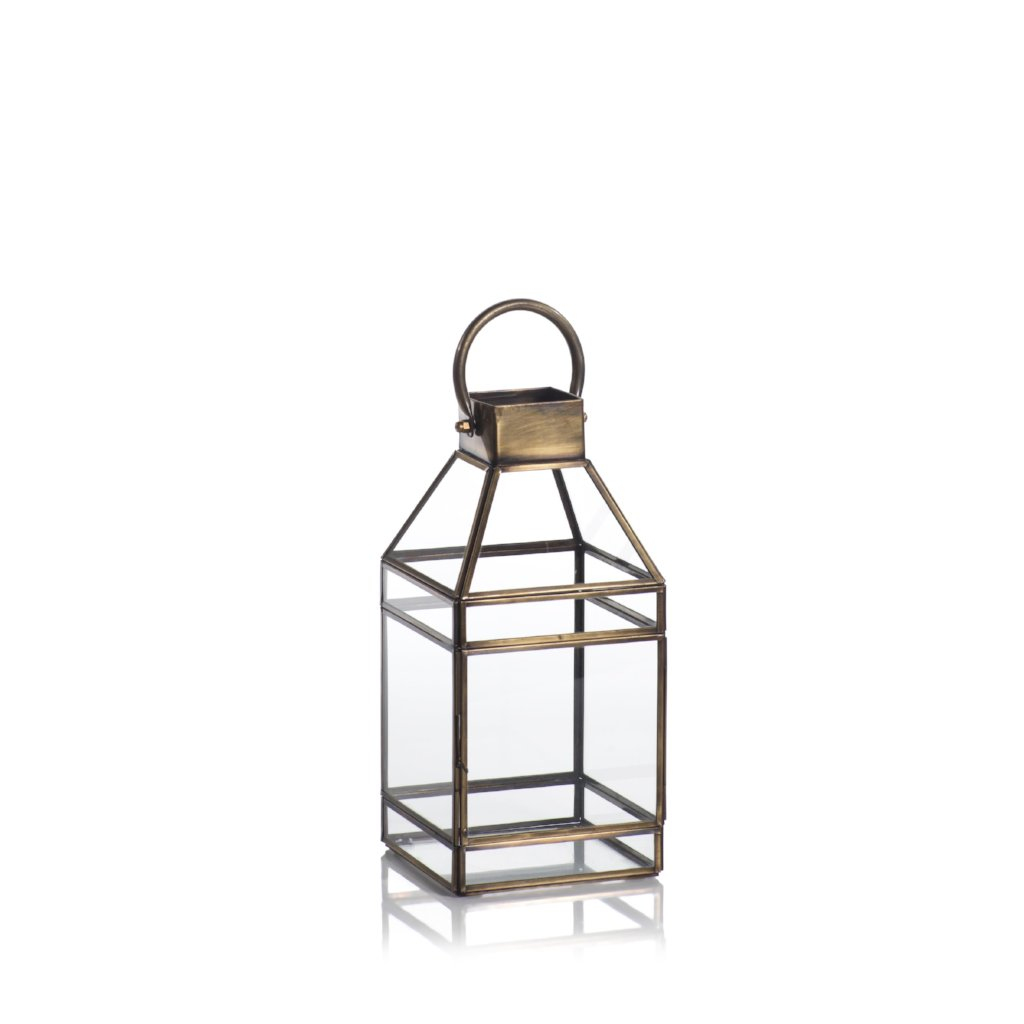 Medici Antique Brass Lantern - CARLYLE AVENUE