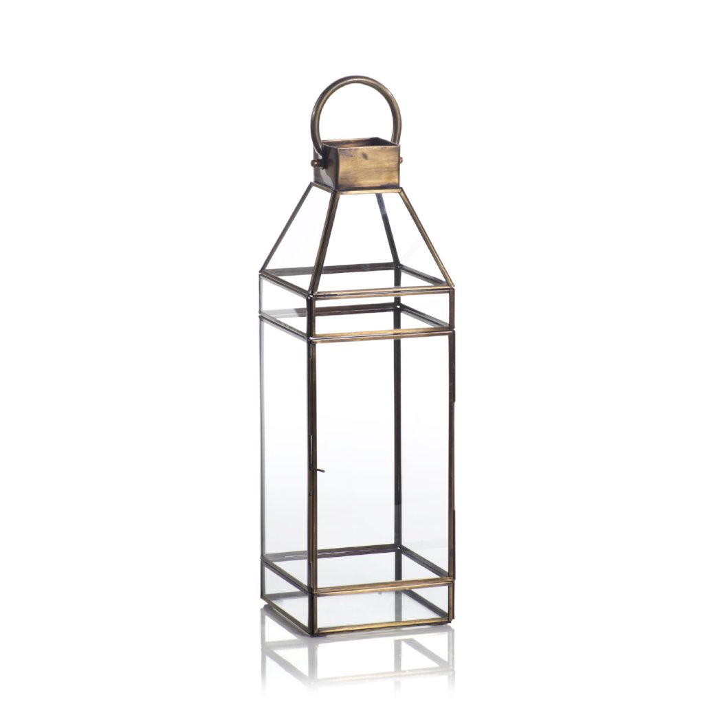 Medici Antique Brass Lantern