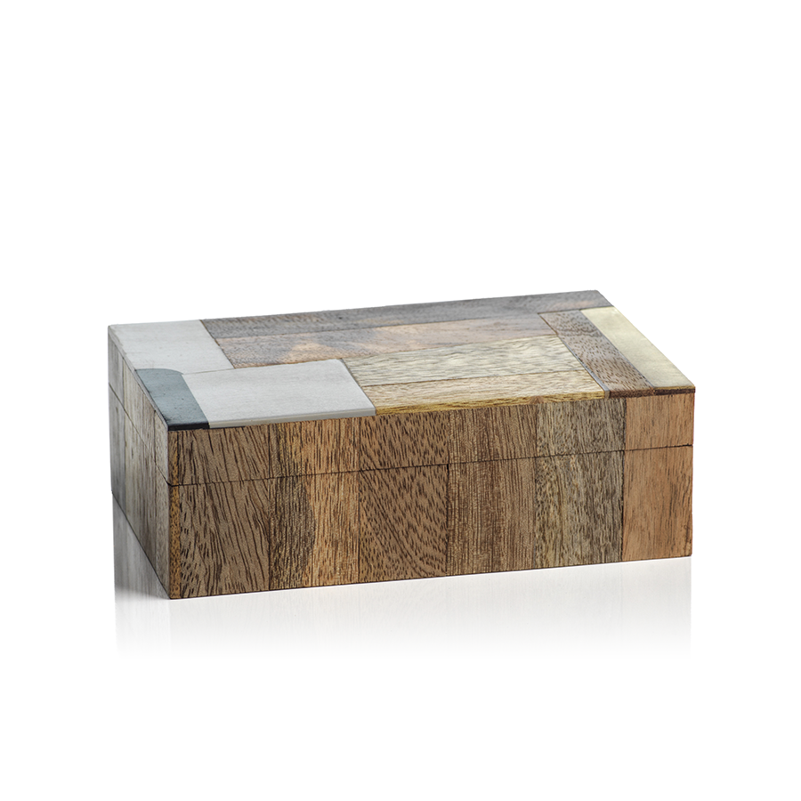Cape Town Abstract Inlaid Mango Wood Box