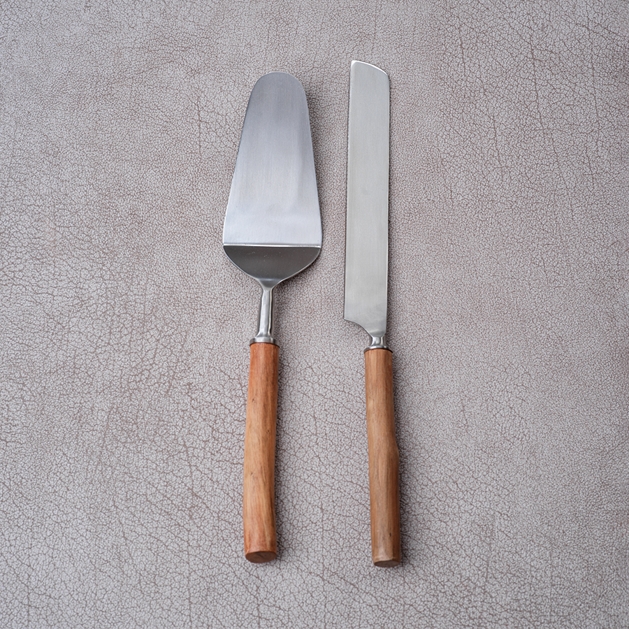 Rosewood Cake Servers - Set of 2