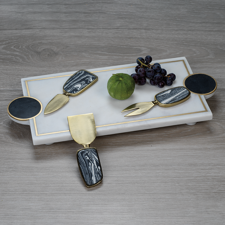 Kadappa Stone and Marble Tray