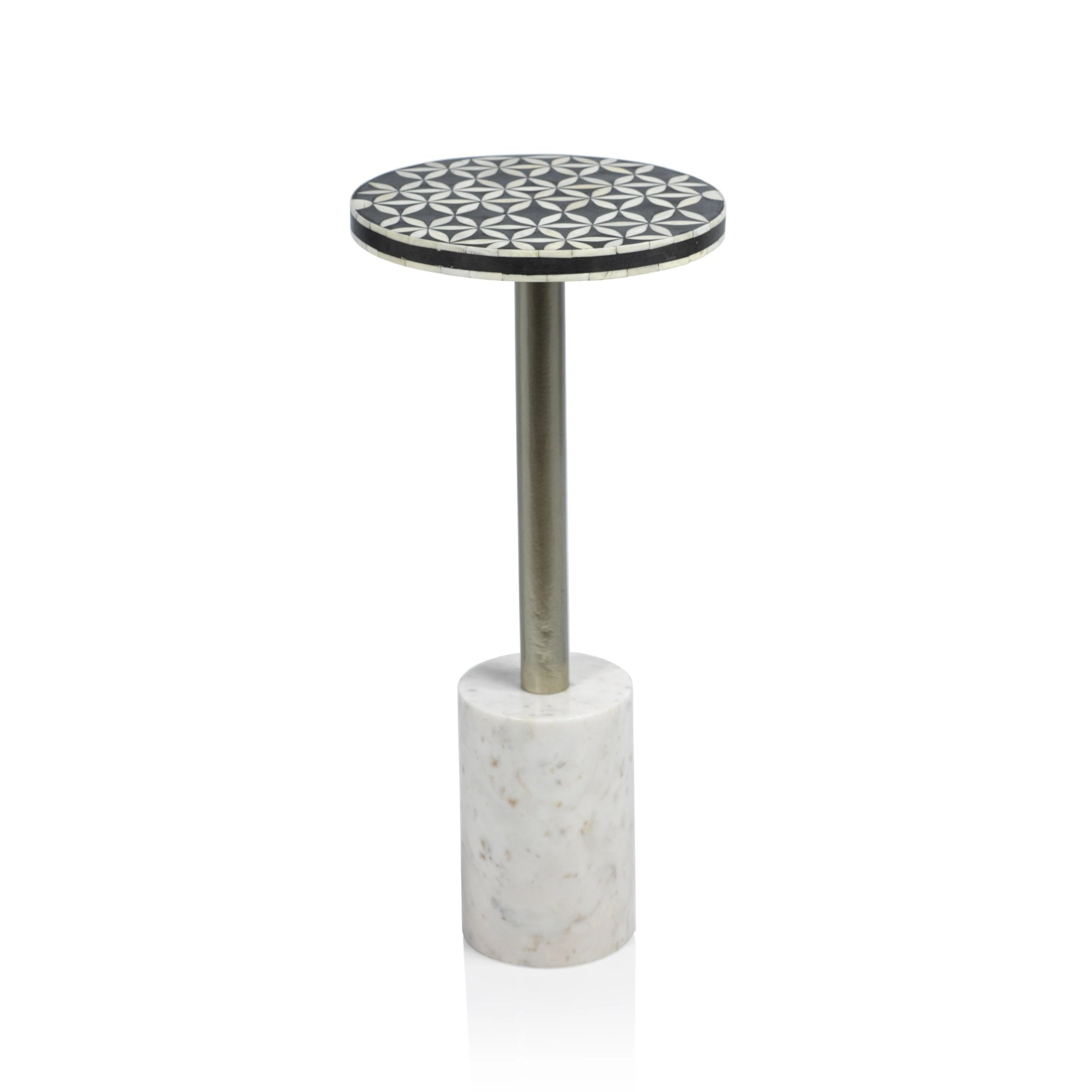 Sultana Round Cocktail Table on Marble Base - CARLYLE AVENUE