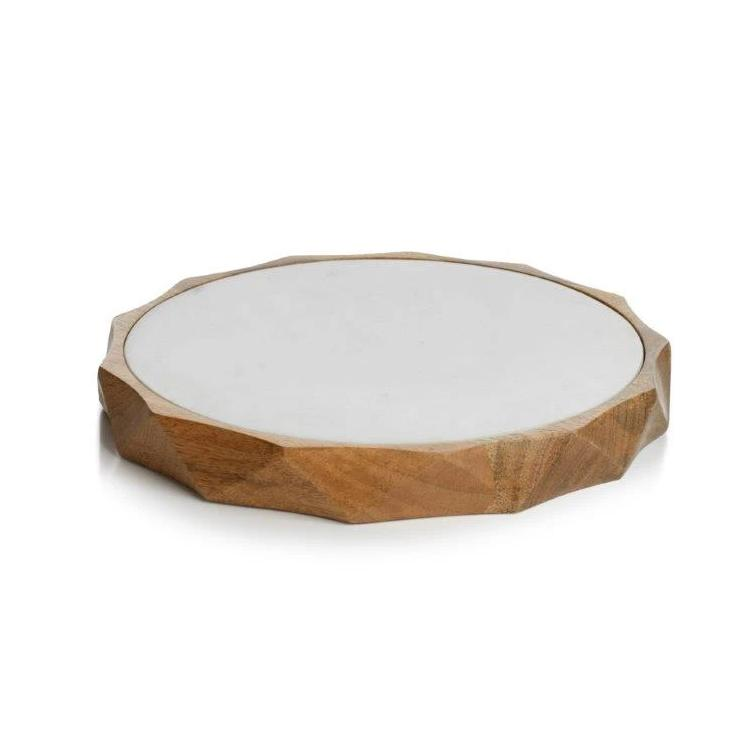 San Ramon Wood & White Marble Board - CARLYLE AVENUE