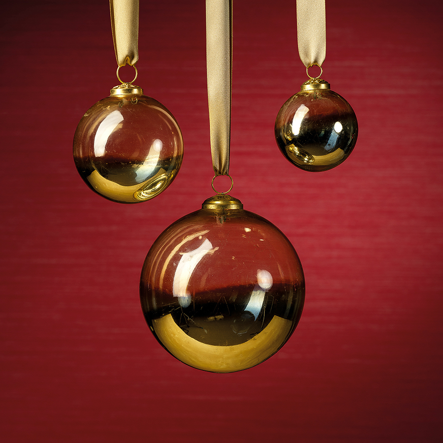 Ombre Luster Ornament - Gold