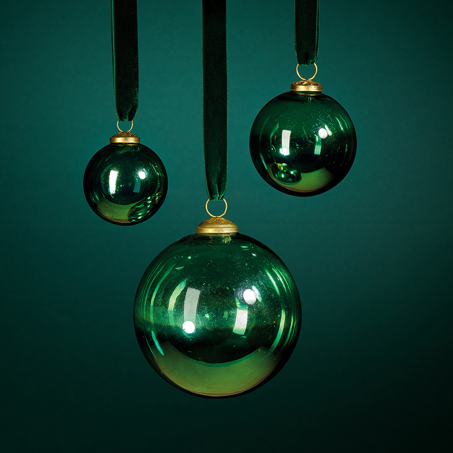 Ombre Luster Ornament - Green
