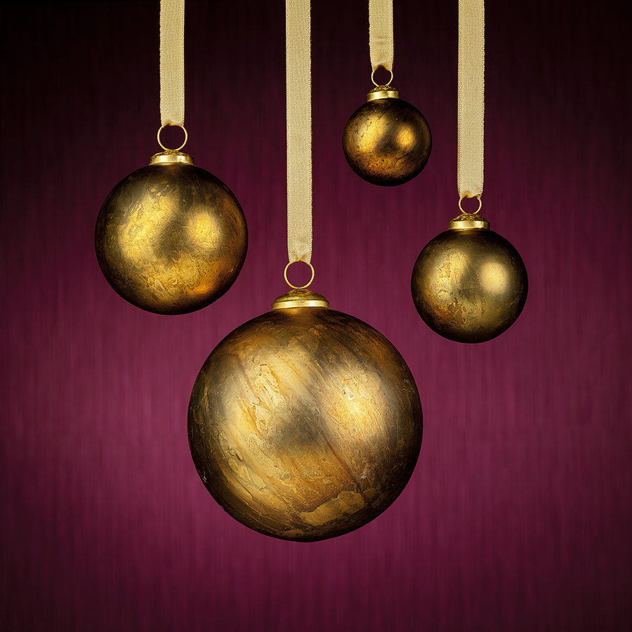 Rustic Metallic Ornament - Gold