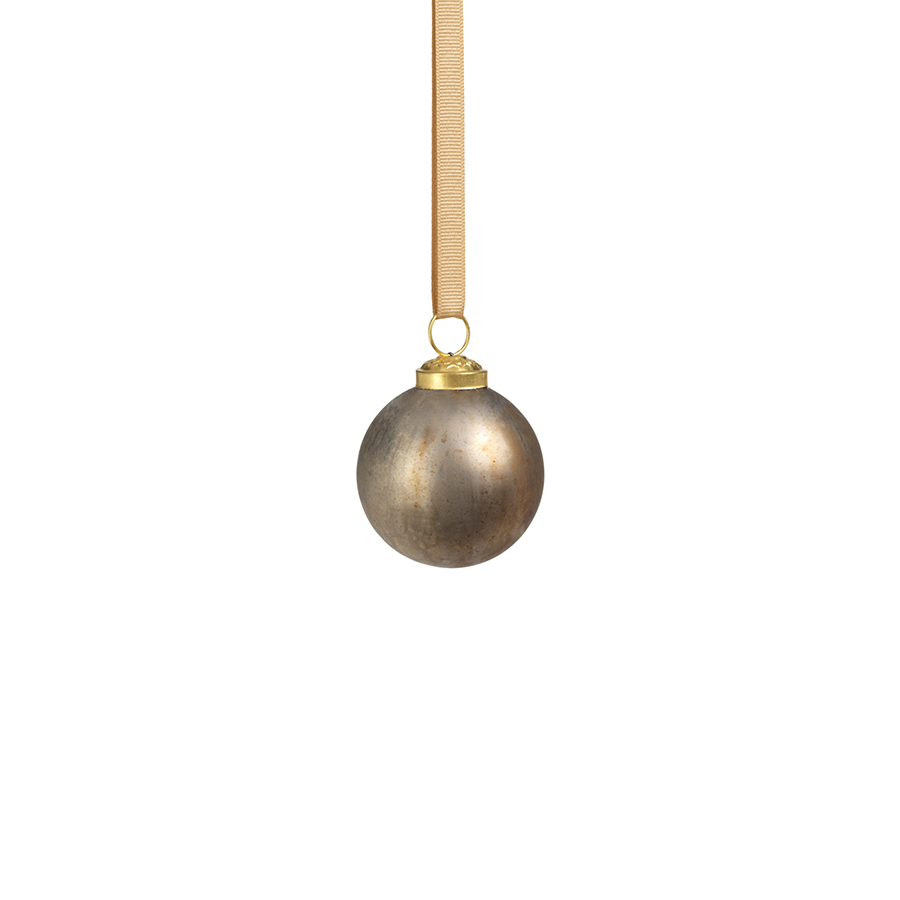 Rustic Metallic Ornament - Silver