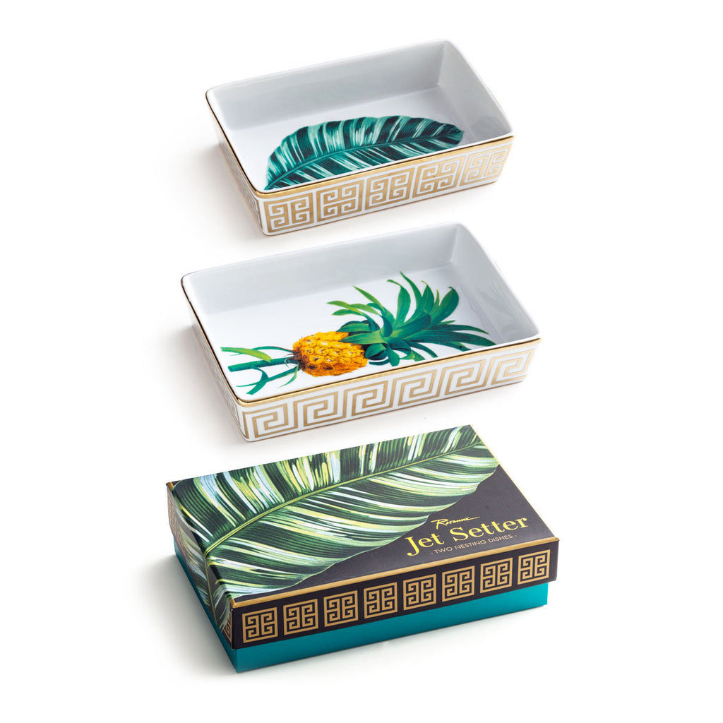 Set of Two Jetsetter Botanical Nesting Trays -  - CARLYLE AVENUE