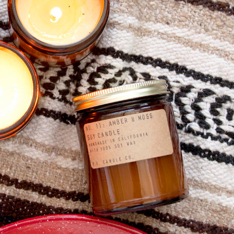 P.F. Candle Co Soy Candle Amber & Moss