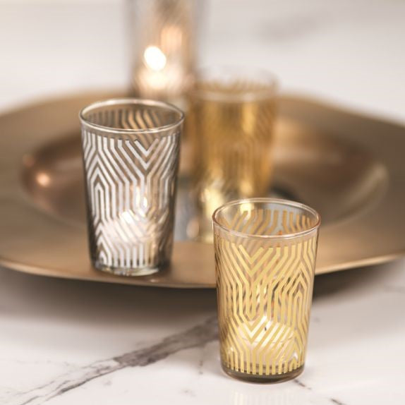 Geometric Design Tealight Holder - Set of 6 - CARLYLE AVENUE