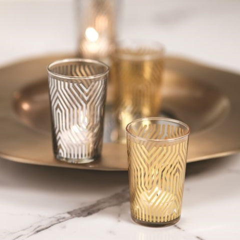 Geometric Design Tealight Holder - Set of 6