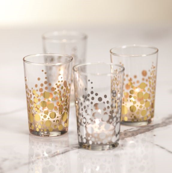 Dot Design Tealight Holder - Set of 6 - CARLYLE AVENUE