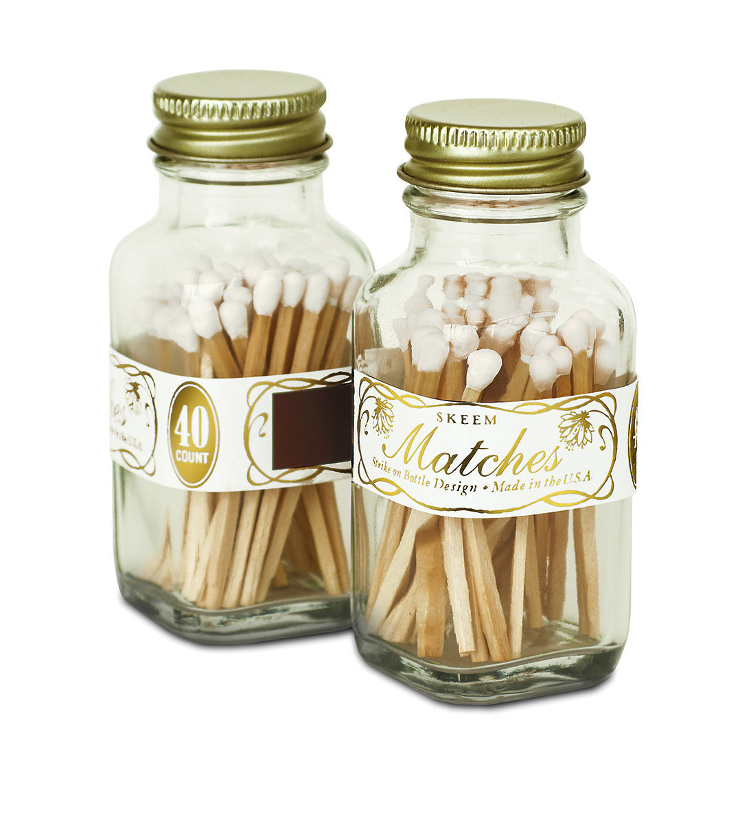 Mini Vintage Match Bottle
