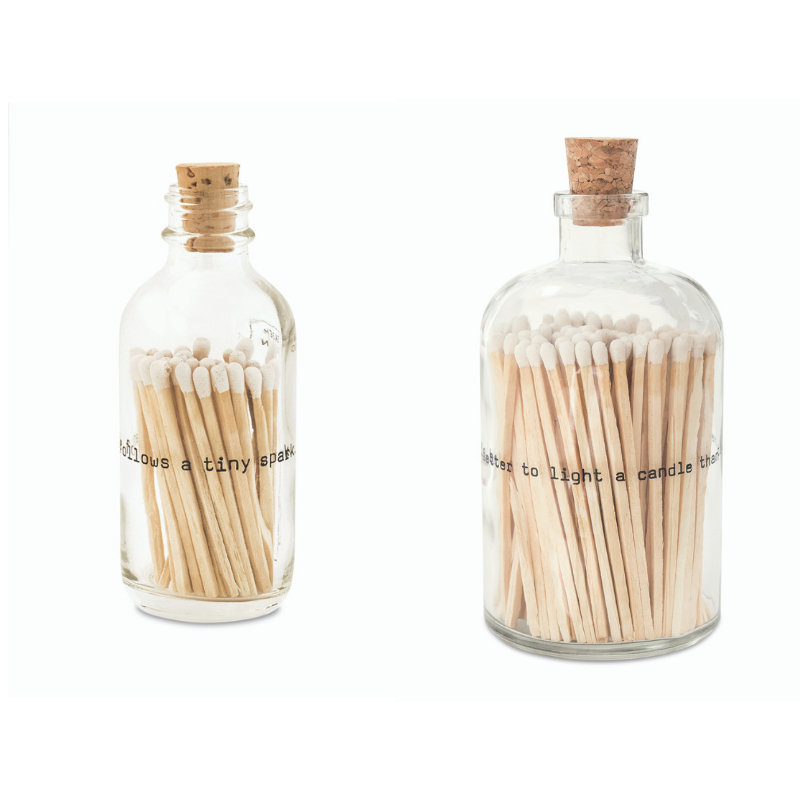 Poetry Apothecary Match Bottle