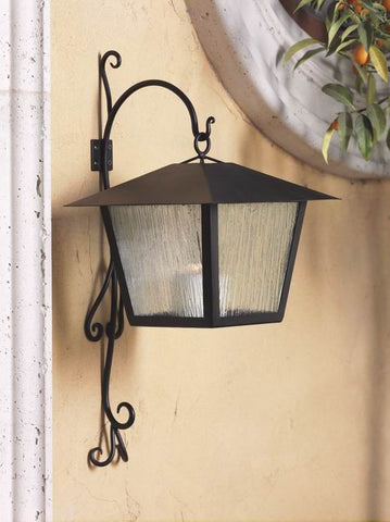 Santa Rosa Metal Hanging Lantern With Wall Mount