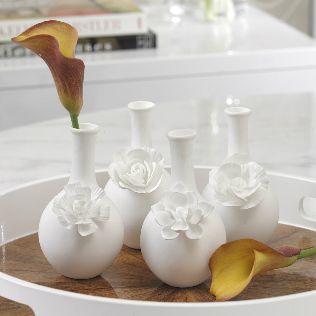Cameo Long Neck Porcelain Bud Vases - Set of 4 - Default Title - CARLYLE AVENUE - 2
