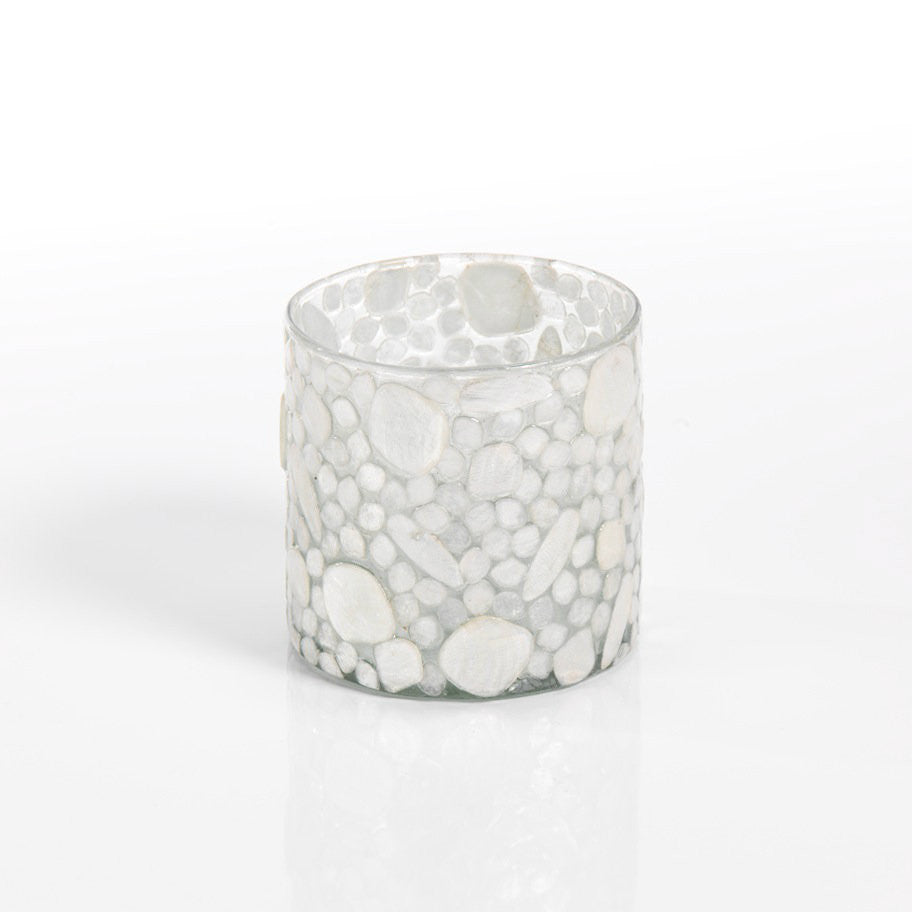 Capiz Glass Votive Holders - Set of 6 - CARLYLE AVENUE