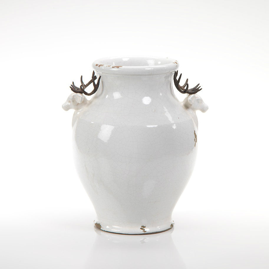 Terracotta Stag Head Footed Vase - Small - CARLYLE AVENUE - 2