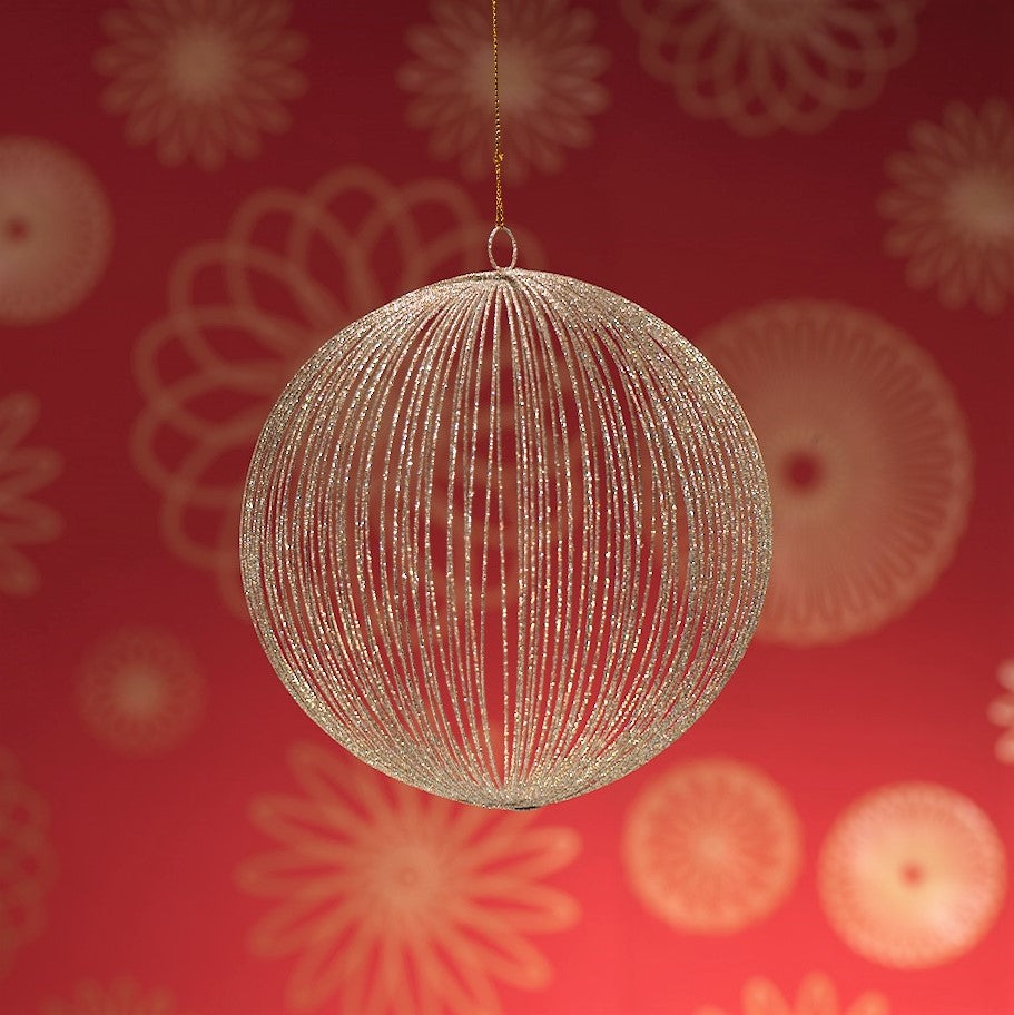 Straight Lines Mesh Ball Ornament
