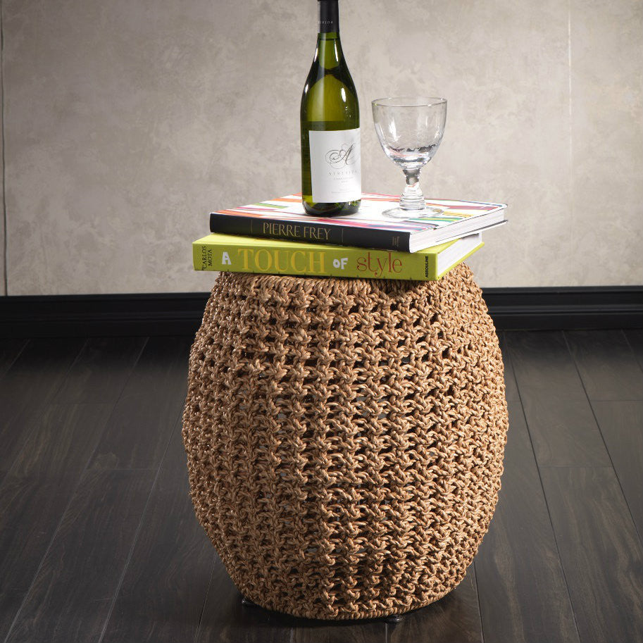 Knotted Weave Barrel Stool -  - CARLYLE AVENUE - 2