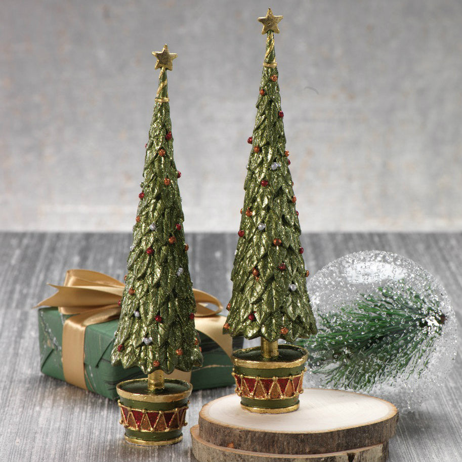 Stiletto Green Tree with Star - Set of 6 -  - CARLYLE AVENUE - 2