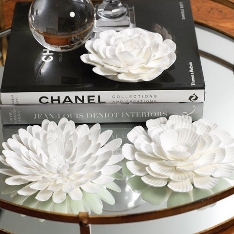 Porcelain Flower Table and Wall Decor - Set of 3