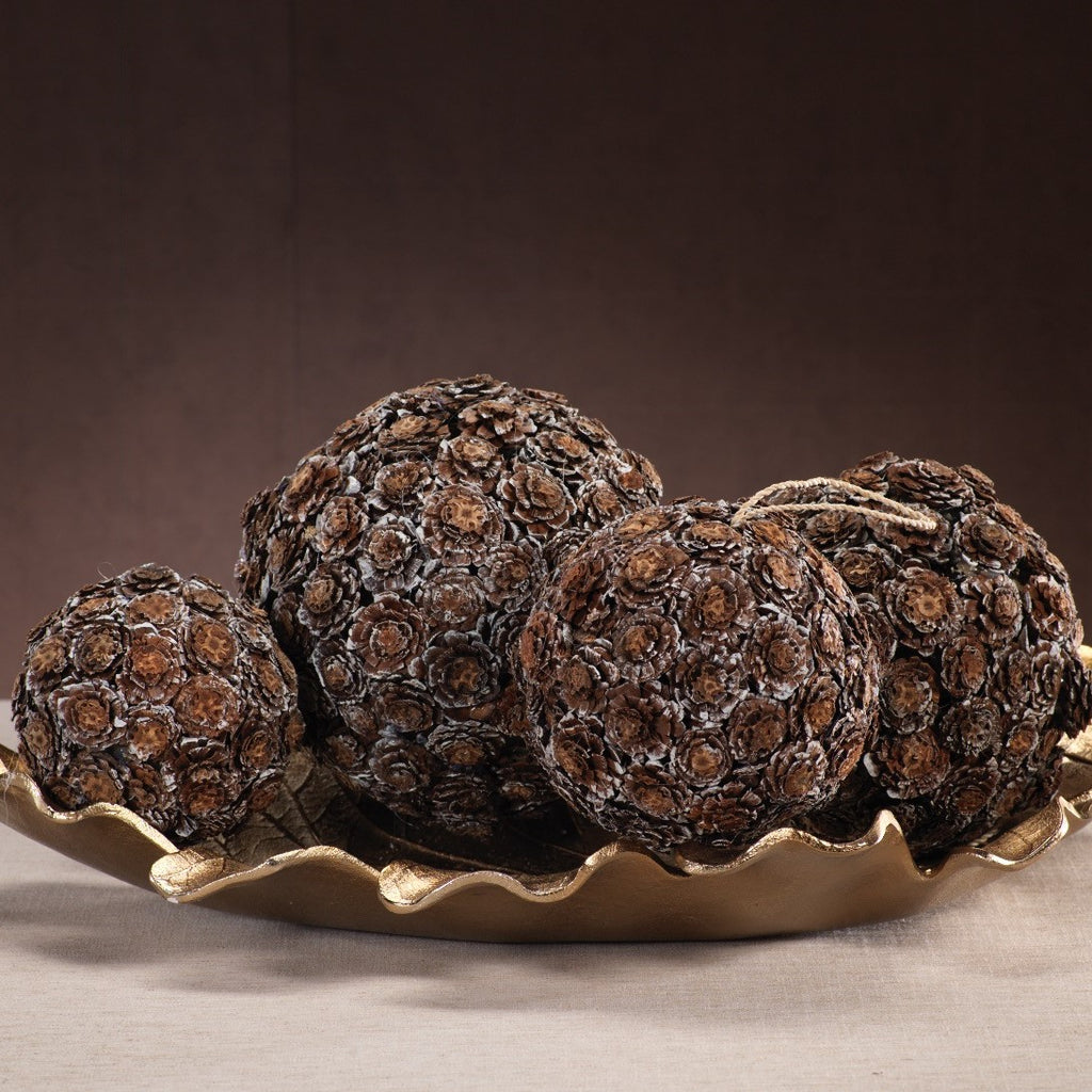 Flower Cut Pine Cone Ball Ornament - CARLYLE AVENUE