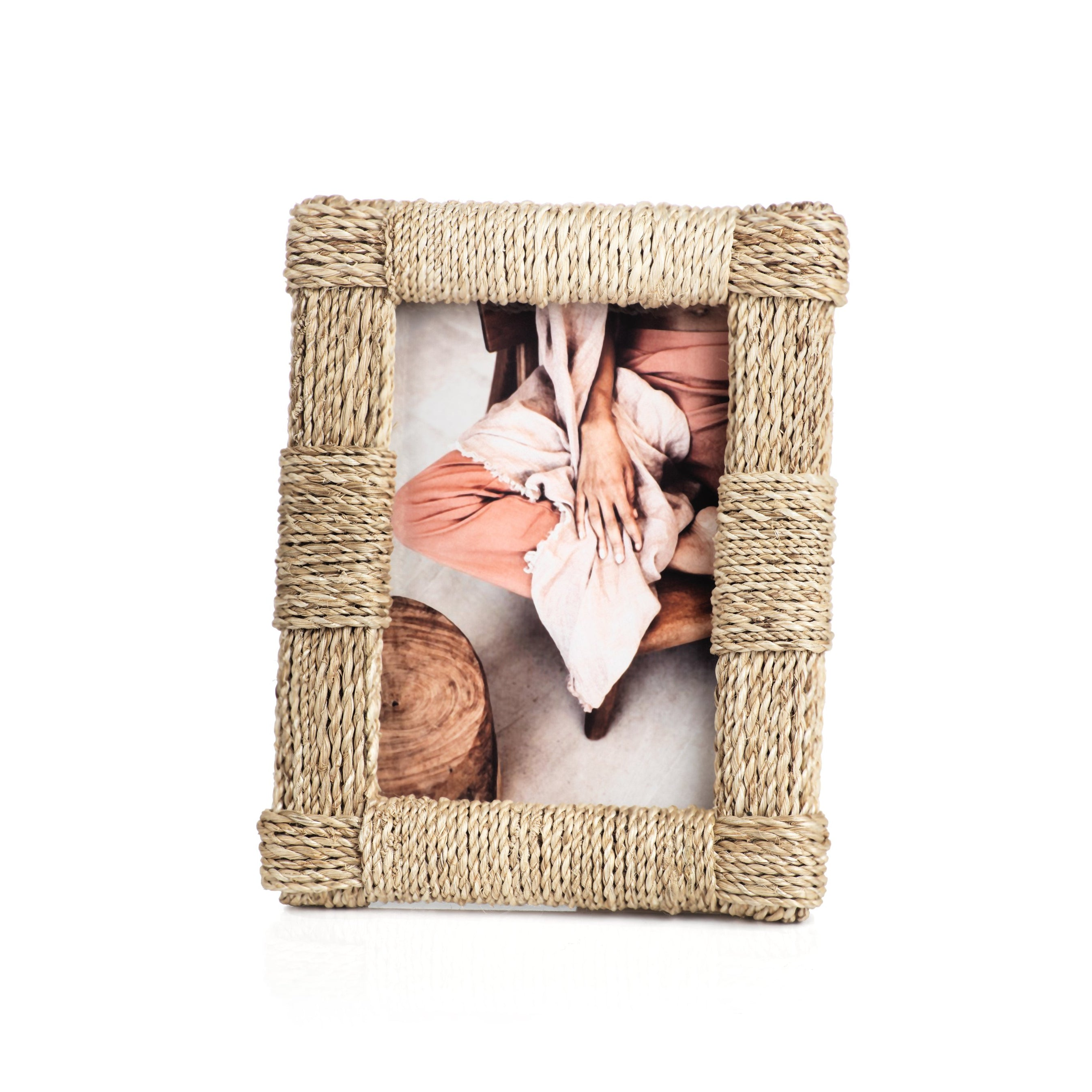Abaca Rope Photo Frame - CARLYLE AVENUE